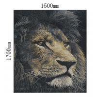 China Durable Lion King Wall Mural / Bathroom Mural Wall Tiles Chemical Resistant on sale