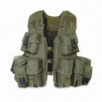Best Tactical Vest, Made of 600D or 900D Polyester, with Magazine and Grenade Pouches wholesale
