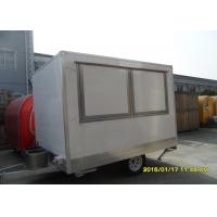 Best Glass Re-enforced White Panel Mobile Catering Van With Single Axle disc brakes wholesale