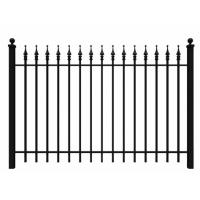 Best Fashionable Ornamental Iron Fence Parts Wrought Iron Components Powder Coated wholesale