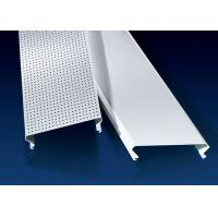Cheap C100 Bevelled Edges Perforated Aluminum Ceiling Panels RAL Colors for sale