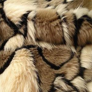 China Jacquard Fake Fur, Black and Beige Colors on sale