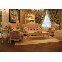 Best Parquetry and Golden Decortation in Wooden Carving Frame with Fabric Upholstery Sofa wholesale
