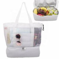 China Large Picnic Cooler Beach Bag Tote Leakproof  8 Cans Removable For Food on sale