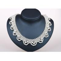 Best Handcrafted Designer Bridesmaids Faux Pearl Statement Necklace Costume Jewelry wholesale