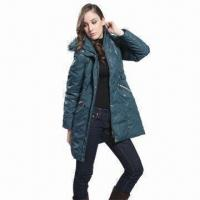 Best Women's down coat with detachable hood and fur wholesale
