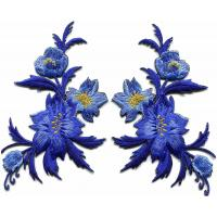 China Sew - On 3D Embroidery Patches / Flower Iron On Patches Muti Backing on sale