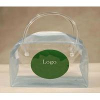 Best Cute Clear PVC Bags with Handle , Silk Screen Printing Pouch PVC Bag wholesale