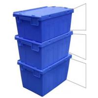 Best Customized Logo Printing Plastic Attached Lid Containers / PP Tote Boxes wholesale