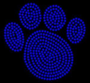 Best Animal/Paw - Paw Print - Cobalt - Rhinestone Transfer wholesale
