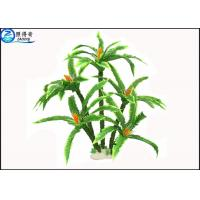 Best Green Plastic Artificial Floating Aquarium Plants / Fake Plants and Trees for Fish Tank wholesale