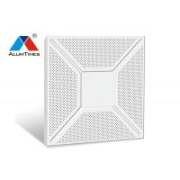 Best Powder Coated Metal Clip In Ceiling Tiles , Perforated Aluminum Ceiling Panels wholesale