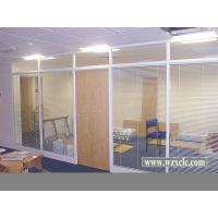 Best Famed Aluminium Modular Office Partitions With Electric Blinds , Glass Panel wholesale