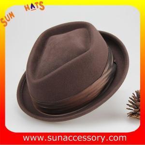 Best 0381 Sun Accessory customized winner fashion 100% wool diamond crown fedora hats,hats for men wholesale