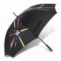Best London 2012 Golf Umbrella with Fiberglass Frame, Made of Recycled Polyester wholesale