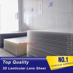 Best 3D Lenticular Sheet materials 70LPI PET 0.9MM 60X80CM for 3d lenticular printing by injekt print and UV offset print wholesale