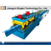 0.8 - 1.2mm Aluminium Steel Ridge Cap Roll Forming Machine With 10 - 15 m/min Working Speed
