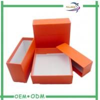 China Lovely Orange Cosmetic Gift Sets  , Paper Board Makeup Storage Box on sale