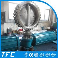 China pneumatic operated soft seated butterfly valve on sale