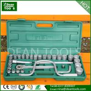 Best 3/4-1DR(15/16-2-3/4)26pcs metal case box socket set 45# steel special set socket wholesale