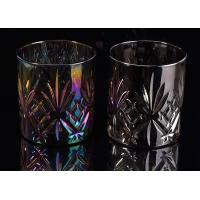 China Cylinder Debossed Pineapple Glass Cup , Scented Candle Making Jars on sale