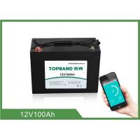 Best ABS Casing Bluetooth Lithium Battery 12V 100Ah For RV Camper / Caravan wholesale