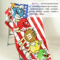 China 85*160cm(33''*63'')American M&M's Cotton Reactive Print Bath Towel Beach Towel Large Sheet on sale