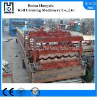 Best Colored Steel Glazed Tile Roll Forming Machine Bamboo Shape 1080mm Cover Width wholesale