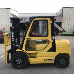 China 3.5 Tonne Fork Lift Trucks 4500mm Triplex Mast 1700mm Wheelbase With Cab on sale