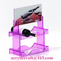 Best New style custom colorful PMMA wine rack China acrylic wine holder for retail wholesale