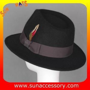 Best 5880477 Sun Accessory customized  winner  fashion 100% wool felt fedora hats, unisex hats and caps wholesaling wholesale