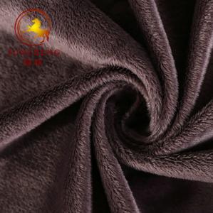 China grey 3mm super soft velboa plush fabric/short pile plush fabric for blanket on sale
