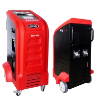 Best 12kg Cylinder Capacity R134a Car AC Service Station Red White Color wholesale