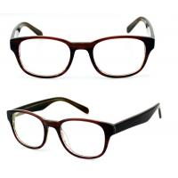 Buy cheap Square Ladies Acetate Optical Frames, Lightweight Handmade Acetate Glasses from wholesalers