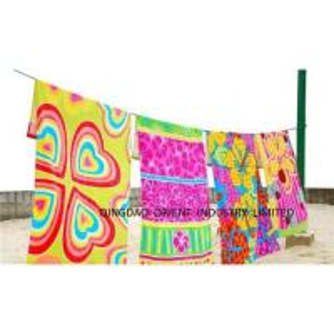 China Velour Reactive Print Beach Towel on sale