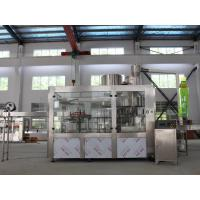 China Automatic Bottle Juice Production Machine Filling Function 3 In 1 Compact Structure on sale