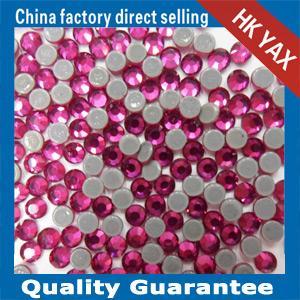 Best Fuchsia YAX High Quality Wedding Dress Crystal Stones Wholesale Crystal Stones Hotfix Transfer Stones Crystal wholesale