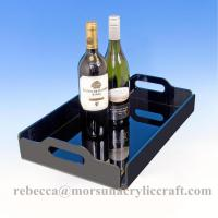 Best Black acrylic cookies display tray acrylic drink serving trays for hotel and party wholesale