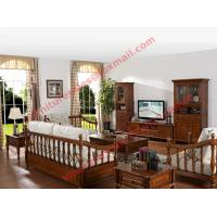 Best Solid Wooden Carving Frame with Fabric Upholstery Sofa Set in Living Room Set wholesale