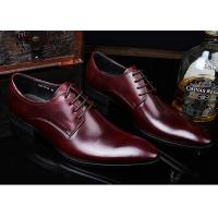 China Romantic Soft Leather Men'S Wedding Dress Shoes Pure Color Brush Off British Style on sale