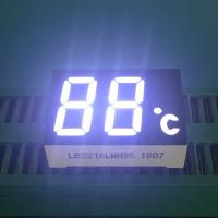 Best 2 Digit 7 Segment LED Display Ultra Bright White LED Color 120-140mcd Luminous Intensity wholesale