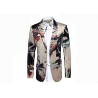 Cheap Creative Colors Mens Printed Suits , Digital Printing Mens Floral Tuxedo Jacket  for sale