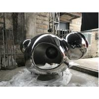 China Outdoor Metal Garden Sculptures Color Customized Garden Animal Statues For Yard Decor on sale