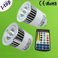 Best Indoor 1*5W High Power RGB LED Pin Spot Lamps Replacement Bulbs for Wall Coves MR16 OEM wholesale