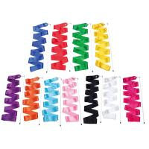 Best Silk Artistic Gymnastics Ribbonn For Dance , Colorful Gymnastics Sticks Ribbon wholesale