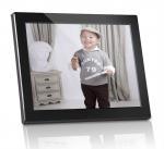 Best Plastic 12 inch Digital Photo Frames Motion Sensor With Calendar / Clock wholesale
