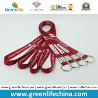 China Fashion Design Eco-friendly Logo Flat Lanyard with Split Key Ring Factory Directly Cheap Price on sale
