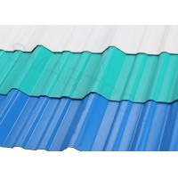 China Wind Resistance APVC Plastic Corrugated Roofing Sheets 1132 MM Width For Police Post on sale