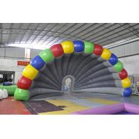 Rainbow Inflatable Tent , Colorful PVC Inflatable Stage Tent For Festival