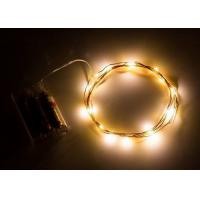 Best Indoor Battery Operated LED String Lights , Warm White Mini String Lights wholesale